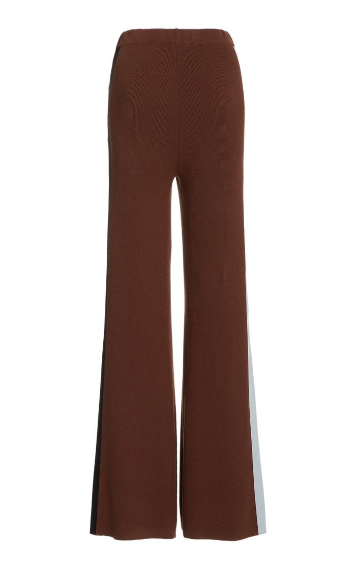 Ski High-Rise Ribbed-Knit Pants