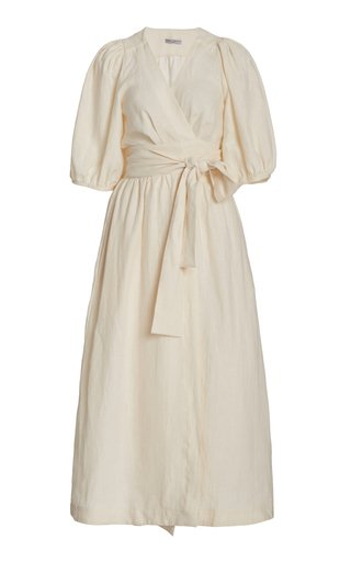 Fiona Linen Midi Dress
