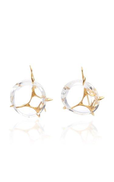 Brinco Envolto Quartz 18K Gold Earrings
