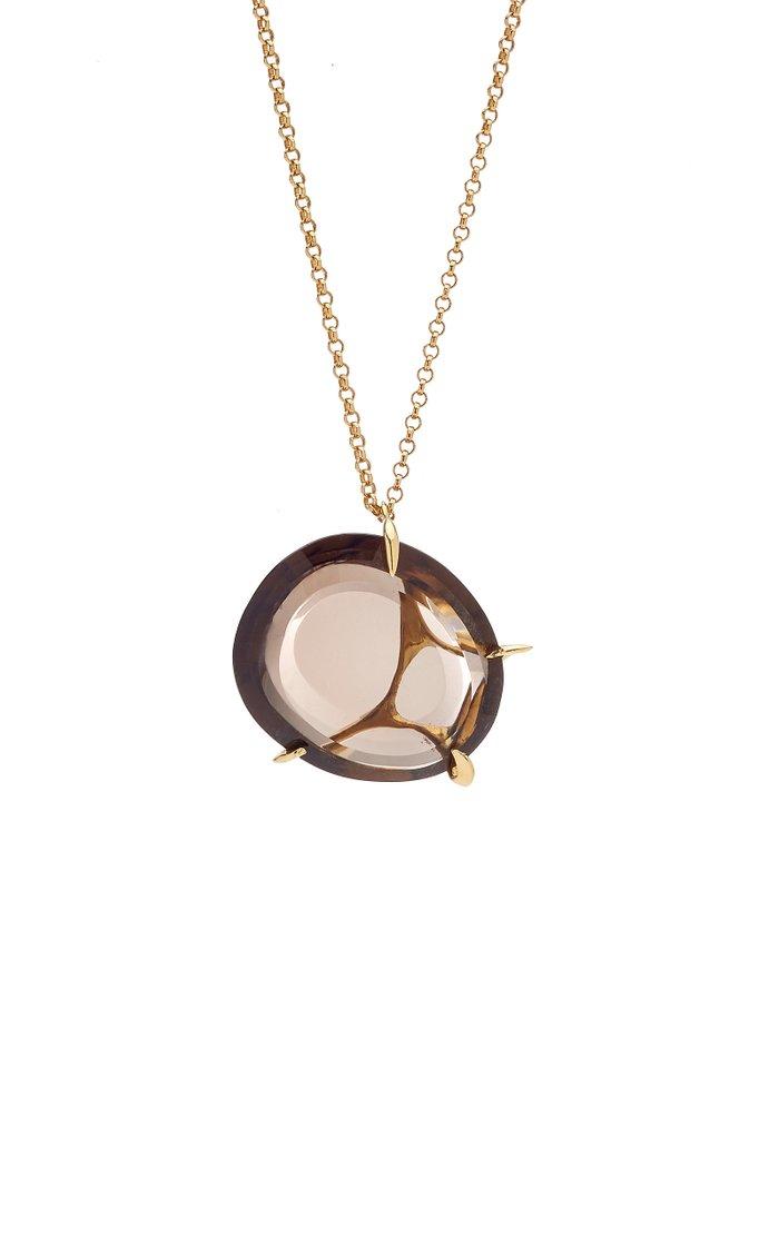 Envolto Quartz 18K Gold Necklace