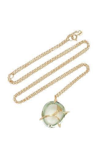 Small Envolto Quartz 18K Gold Necklace