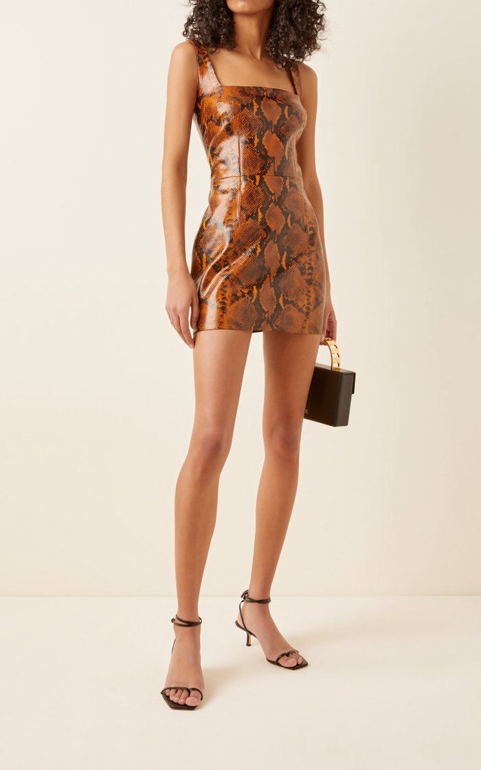Kaoma Faux Leather Mini Dress