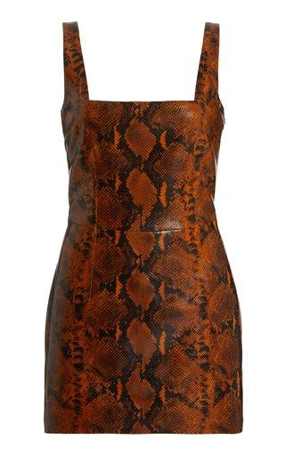 Kaoma Faux Leather Mini Dress
