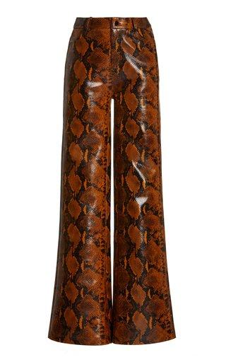 Chipata Faux Leather Wide-Leg Pants