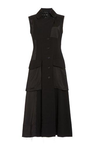 Pocket-Detailed Crepe Midi Cargo Dress