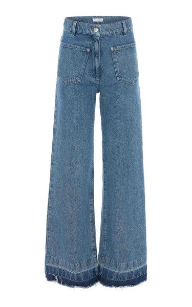 Released-Hem Rigid High-Rise Bootcut Jeans
