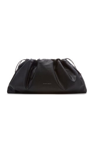 Maxi Drawstring Leather Clutch
