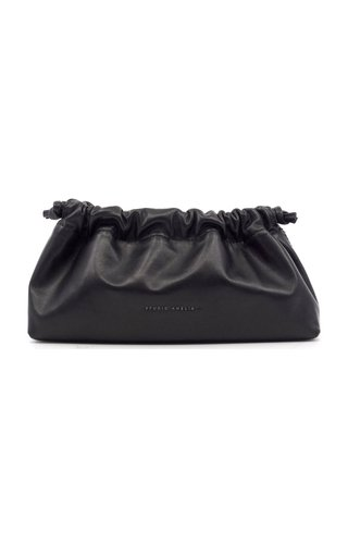 Mini Drawstring Leather Clutch