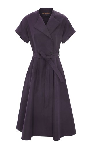 Belted Cotton Midi Wrap Dress