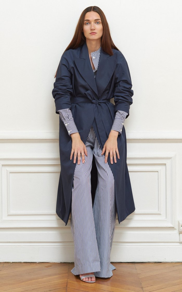Belted Waterproof Taffeta Trench Coat