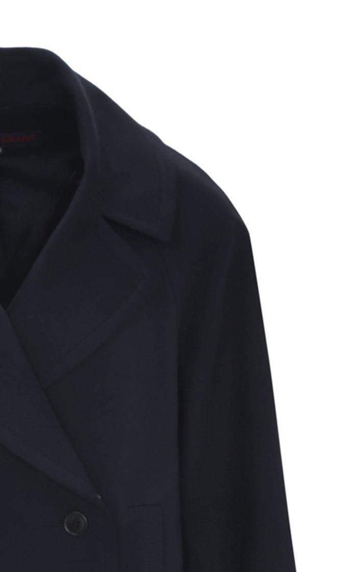 Cotton-Blend Jersey Cocoon Coat