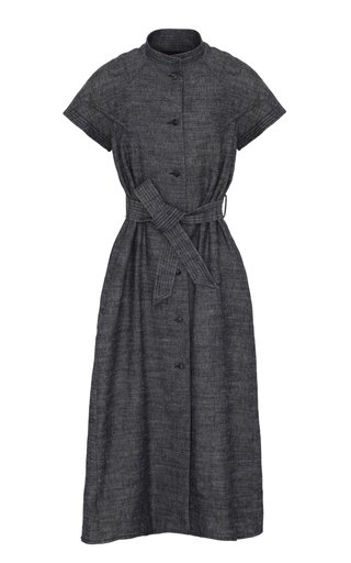 Limited Edition Belted Linen-Blend Midi Shirt Dress