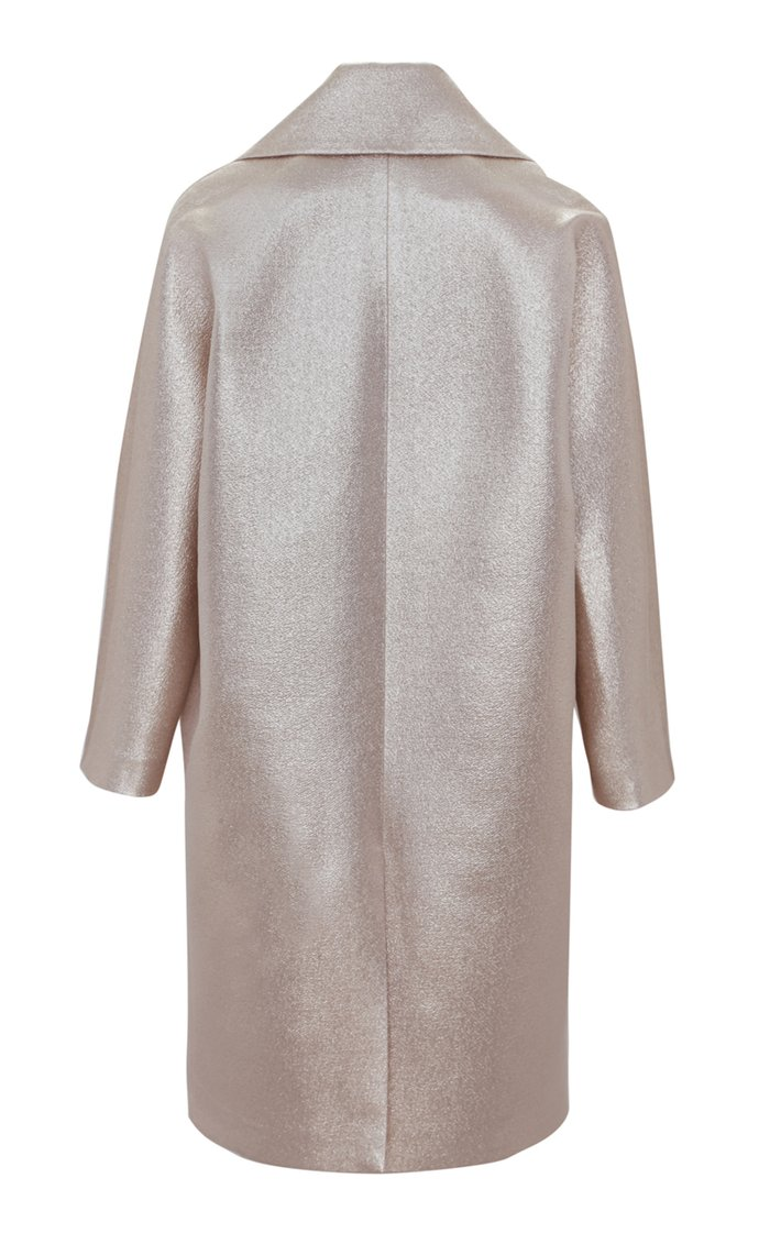 Limited Edition Lamé Cocoon Coat