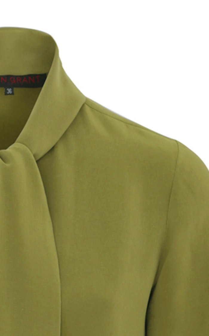 Limited Edition Stretch-Silk Tie-Neck Top