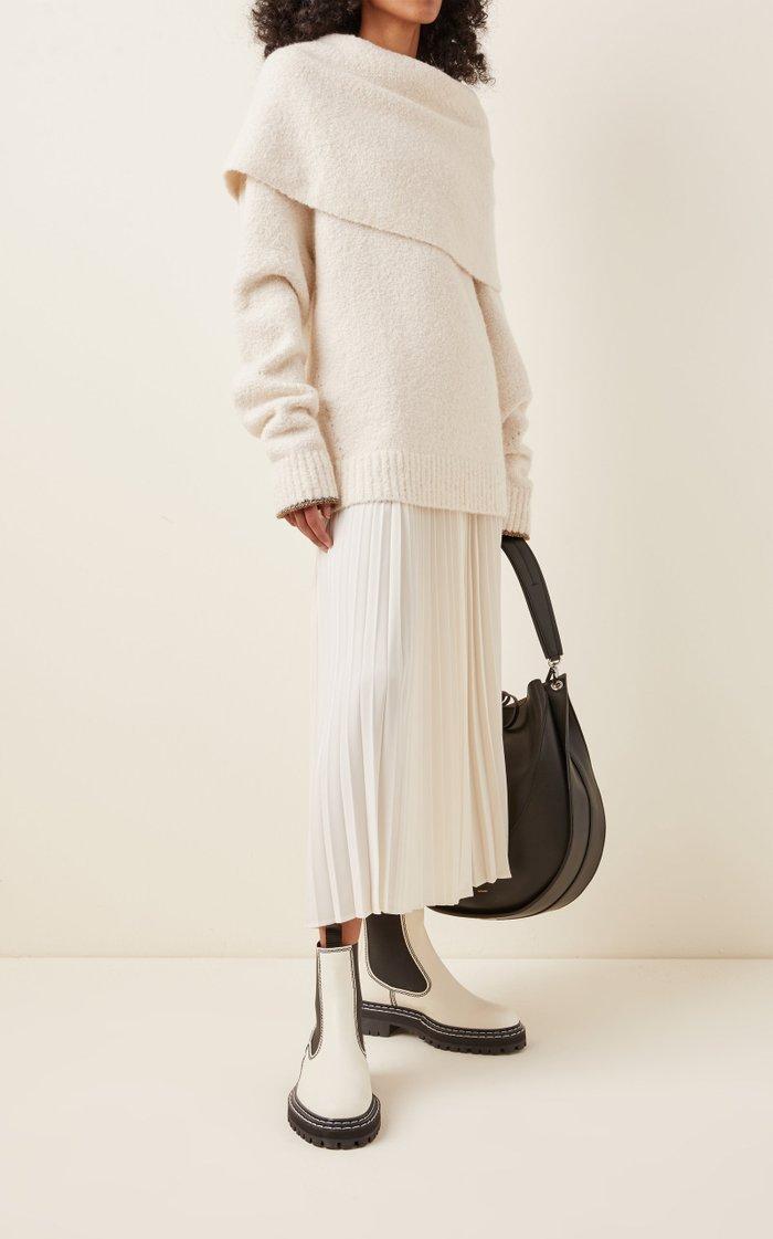 Textured Wool-Blend Knit Sweater