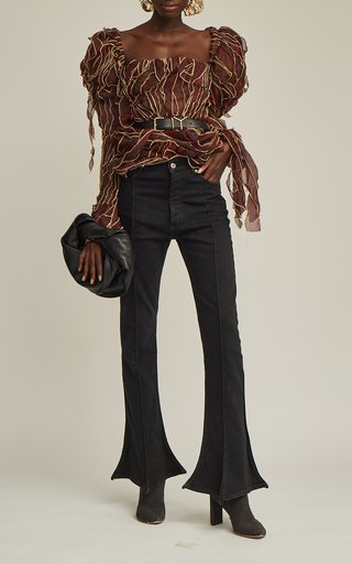 Rigid High-Rise Trumpet-Leg Jeans