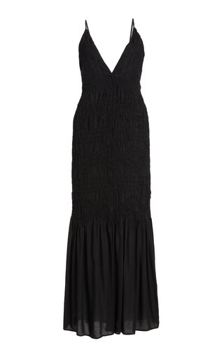 Keira Ruched Modal Maxi Dress