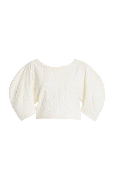 Peni Organic Cotton-Linen Cropped Top