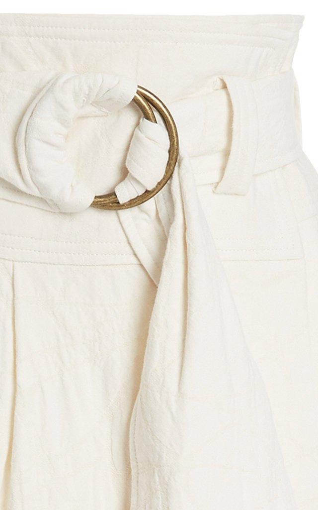 Esperanza Organic Cotton-Linen Midi Skirt