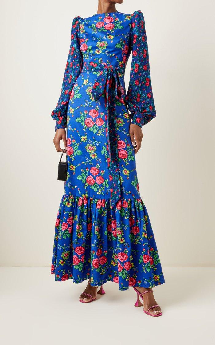 The Villanelle Floral-Print Cotton Maxi Dress