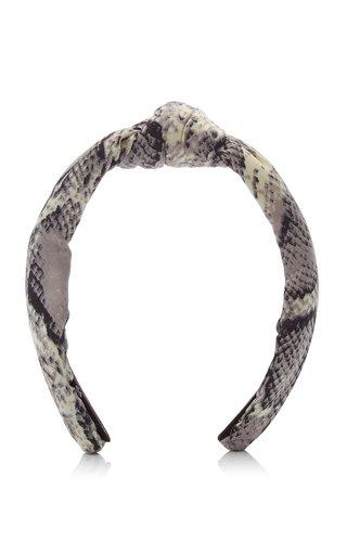 Python-Print Silk Knotted Headband