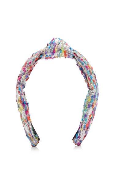 Fringed Lurex Knotted Headband