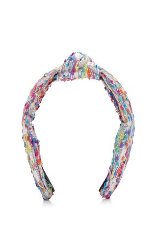 Fringed Lurex Knotted Headband