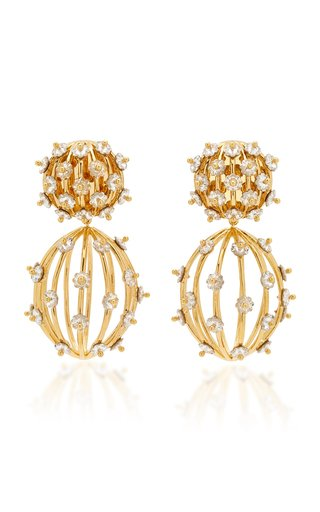 Swarovski Birdcage 14k Gold-Plated Earrings