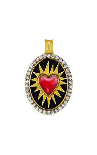 18K Yellow Gold Superhero Heart Charm