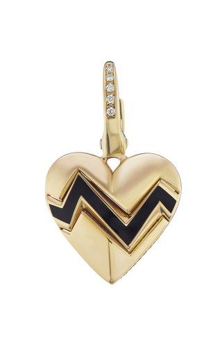 14K Yellow Gold Heart Throb Charm