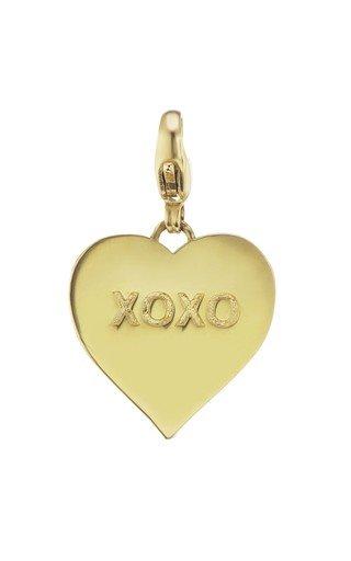 14K Yellow Gold XOXO Heart Charm