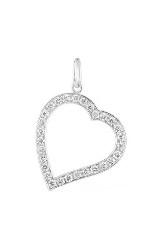 Small Platinum Witch's Heart Charm