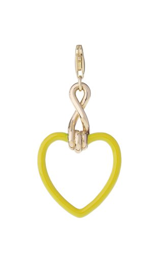 9K Yellow Gold Large Heart Charm
