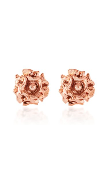 Rosa 14K Rose and Yellow Gold Earrings