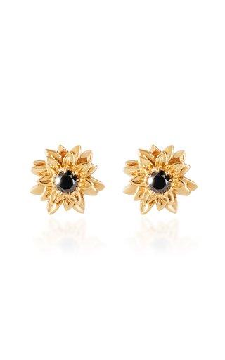 Helios 14K Yellow Gold Diamond Earrings