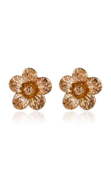 Petunia 14K Rose and Yellow Gold Earrings