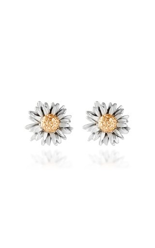 Daisy 14K Yellow and White Gold Earrings