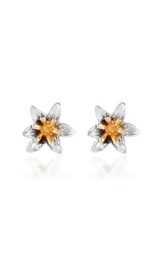 Lily 14K Yellow and White Gold Earrings