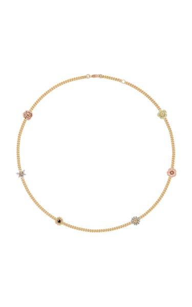 Flora 14K Gold Diamond Choker Necklace