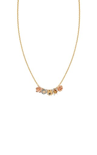 Flora 14K Gold Diamond Charm Necklace