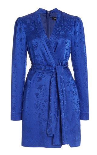 Bibi Floral Silk Jacquard Mini Dress