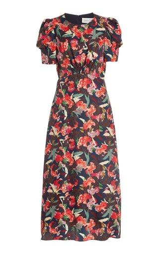 Bianca Printed Silk Midi Dress