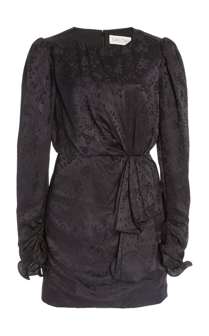 Debbie Floral Silk Jacquard Mini Dress