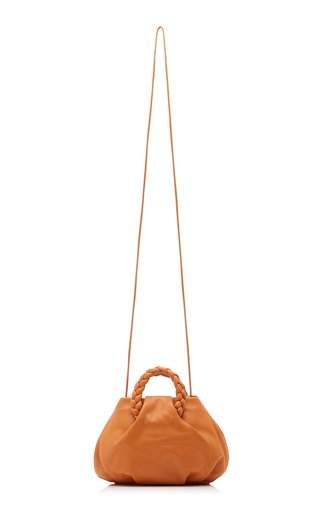 Bombon Small Braided Leather Top Handle Bag