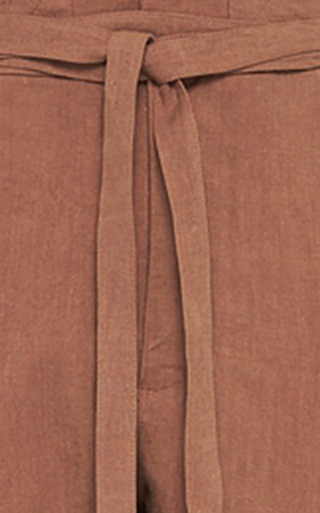 Cotton Twill Relaxed-Leg Utility Pants