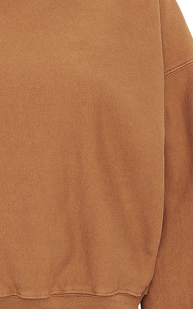 Oversized Open-Back Cotton Sweatshirt