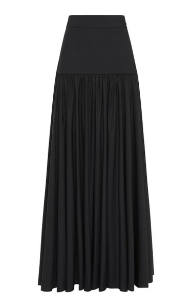 Rosa Pleated Poplin Skirt