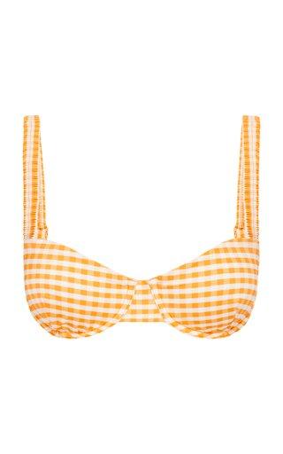 Holiday Gingham Bikini Top
