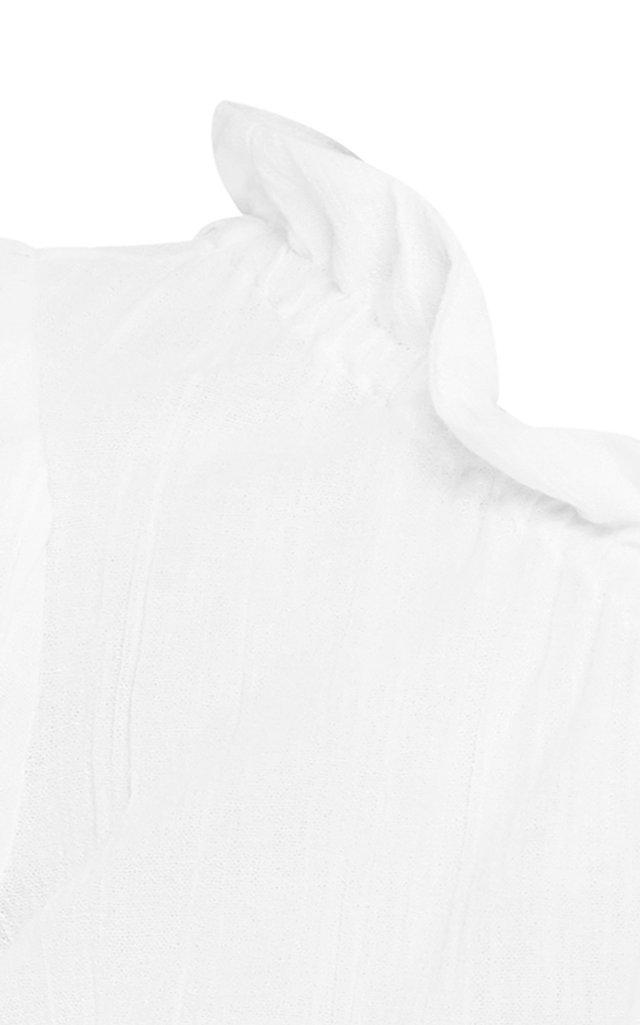 One-Shoulder Linen Crop Top