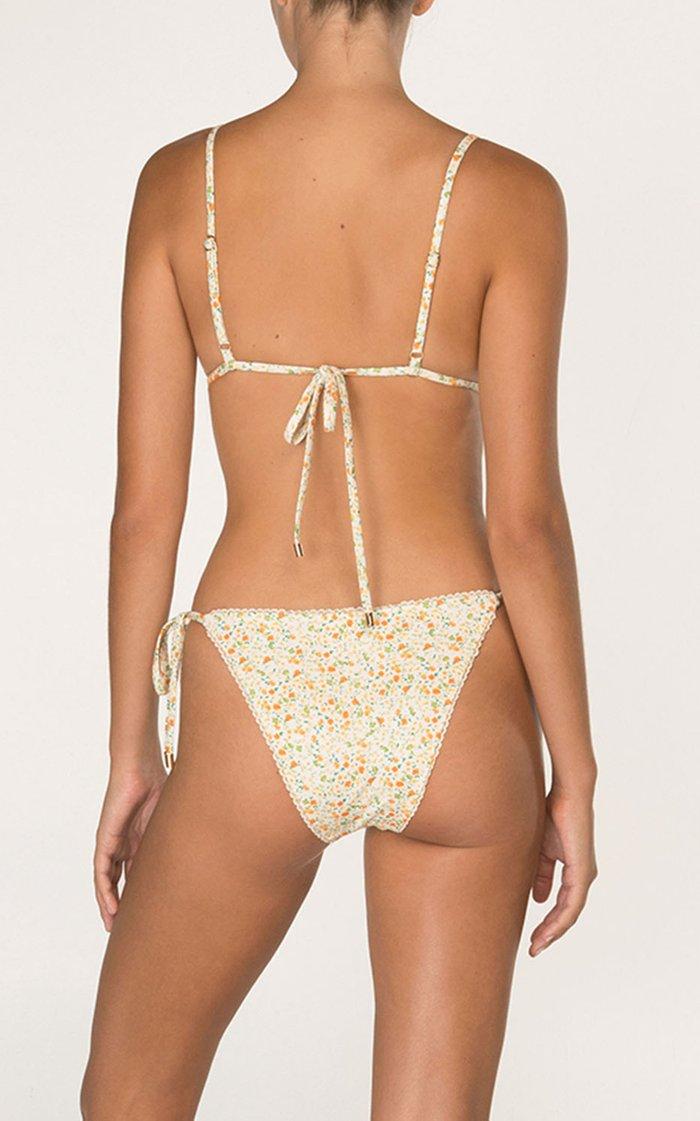 Floral String Bikini Bottom